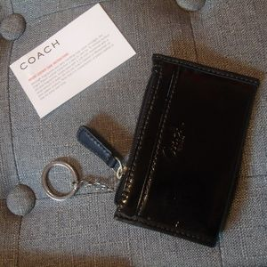 Coach Black Patent ID Case